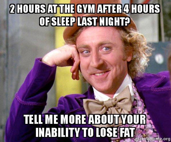 2 hours at the gym after 4 hours of sleep last night? Tell me more