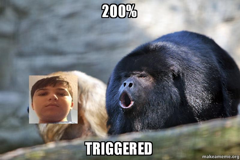 200 triggered kbpjvt 200% triggered make a meme,Make A Triggered Meme
