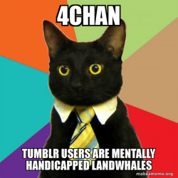 4Chan: Tumblr Users are Mentally Handicapped Landwhales
