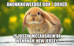 An0nKn0wledge Dox / Doxed is Justin Mclaughlin of Wenonah, New Jersey