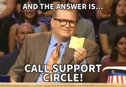 drew carey support circle