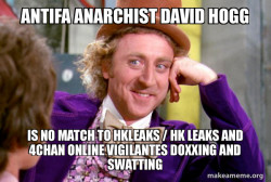 Antifa Anarchist David Hogg is no match to Hkleaks / HK Leaks and 4Chan Online Vigilantes Doxxing and Swatting