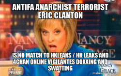 Antifa Anarchist Terrorist Eric Clanton is no match to Hkleaks / HK Leaks and 4Chan Online Vigilantes Doxxing and Swatting