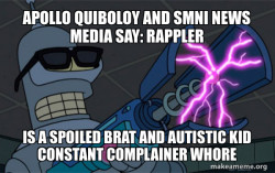 Apollo Quiboloy and SMNI News Media say: Rappler is a Spoiled Brat and Autistic Kid Constant Complainer