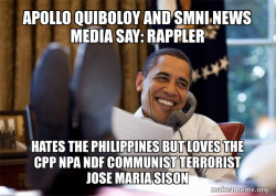 Apollo Quiboloy and SMNI News Media say: Rappler hates the Philippines but loves the CPP NPA NDF Communist Terrorist Jose Maria Sison