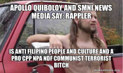 Apollo Quiboloy and SMNI News Media say: Rappler is Anti Filipino People and Culture and a Pro CPP NPA NDF Communist Terrorist Bitch