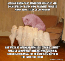 Apollo Quiboloy and SMNI News Media say: Neri Colmenares of Bayan Muna Partylist and Jose Maria 'Joma' Sison of CPP NPA NDF are 'FAKE AND WANNABE' Maoist Left Wing / Leftist Marxist Communist International Criminal Terrorist Organization and Racist Sinop