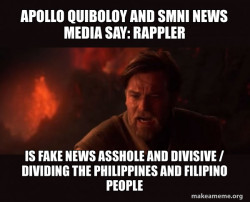 Apollo Quiboloy and SMNI News Media say: Rappler is Fake News Asshole and Divisive / Dividing the Philippines and Filipino People