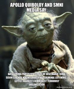 Apollo Quiboloy and SMNI Media say: Bayan Muna Partylist is part of Jose Maria 'Joma' Sison CPP NPA NDF International Criminal Left Wing / Leftist Marxist Communist Terrorist Organization