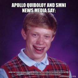 Apollo Quiboloy and SMNI News Media say: Saturnino