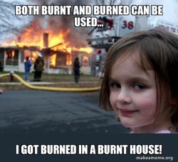 burn girl