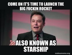 Big fuckin rocket