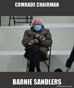 Bernie Sanders at the Inauguration