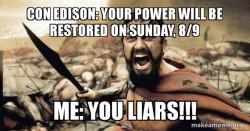 #CONnedEdison Storm Isaiah FAIL