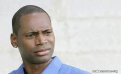 Confused Black Man