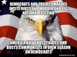 American Eagle Busting The Democrats