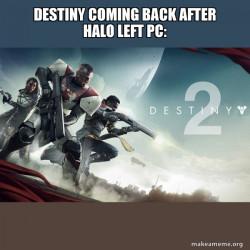 Destiny 2 took over for Halo!?