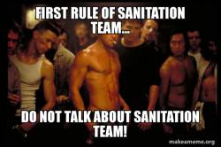 sanitation team
