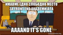 aaaand its gone