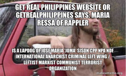 Maria Ressa of Rappler is a Lapdog of Jose Maria 'Joma' Sison CPP NPA NDF International Anarchist Criminal Left Wing / Leftist Marxist Communist Terrorist Organization
