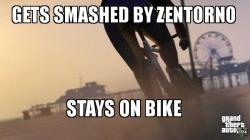 Smashed bike