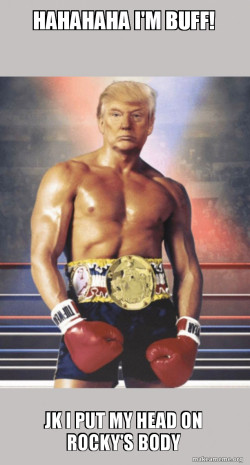 Trump on Rocky's Body #MLG