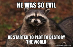 Evil Plotting Raccoon