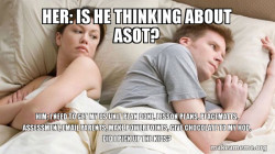 Couple thinking in bed