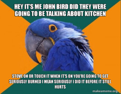 Kitchen safety rules with John Bird