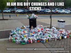 me name is over filled  trash can