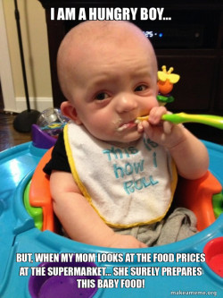 A Starving Baby and the supermarkets reality