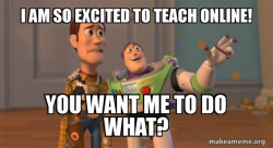 Online teaching meme