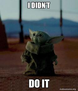 Baby Yoda inoccent