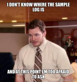 Andy Dwyer - sample log