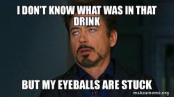 Tony Stark Eye Roll