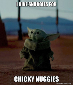 baby yoda chicky nugges