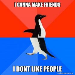 Socially Awesome Awkward Penguin