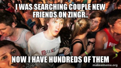 Find new friends ZINGR app