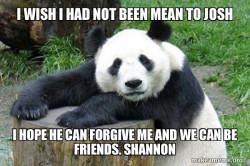 sorrowful Panda