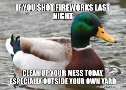 Fireworks can be messy
