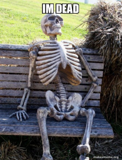 Waiting Skeleton