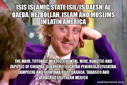 ISIS Islamic State ISIL/IS Daesh, Al Qaeda, Hezbollah, Islam and Muslims in Latin America