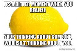 Bitter moment