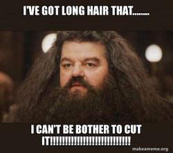 Hagrid - I should i cut my long hair?