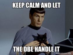 Keep Calm DBE Meme