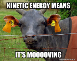 Kinetic and Potential energy memes