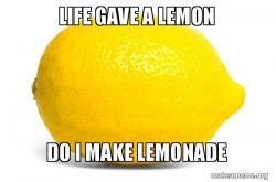 Lemon or lemonade