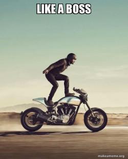 Keanu Reeves Stunt Bike