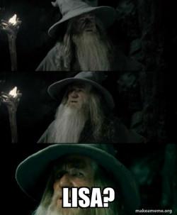 Confused Gandalf