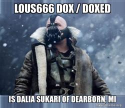 Lous666 Dox / Doxed is Dalia Sukari of DEARBORN, MI